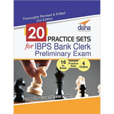 20 Practice Sets for IBPS Bank Clerk Preliminary Exam 16 in Book 4 Online Tests (English Medium)