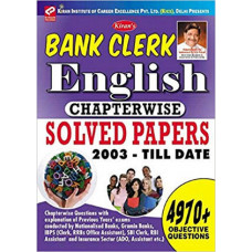 Bank Clerk English language Chapterwise Solved Papers