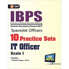 IBPS Specialist Officers 10 Practice Sets for IT Office Scale I 2017 (English Medium)