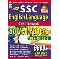 SSC English Language Chapterwise Solved Papers 8800 Objective Questions