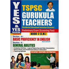 TSPSC GURUKULA TEACHERS Preliminary Exam Screening Test Book 2 ( English Medium )