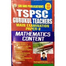 TSPSC Gurukula Teachers Mains Paper 2 Mathematics Content (English Medium)
